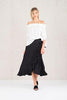 chalice clothing black frill and wrap skirt available for purchase at the white place, orange nsw - free shipping within australia