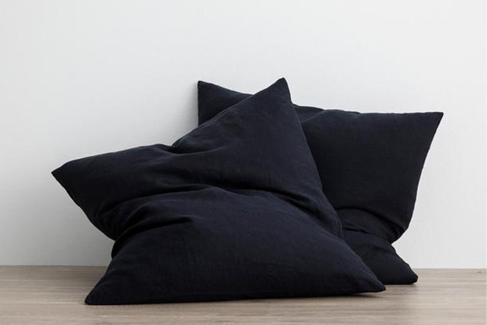 cultiver euro cushion covers - navy, available at the white place