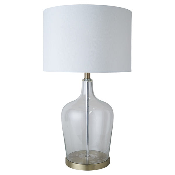 one world palm beach glass lamp - available at the white place, orange nsw