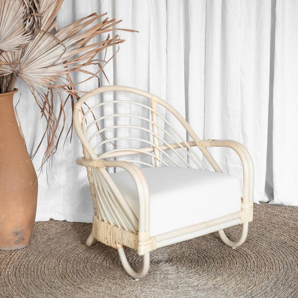 McMullin & Co Cane chair - at the white place, orange nsw