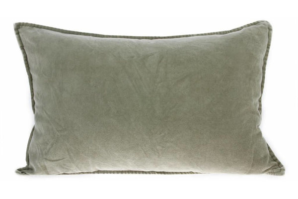 HK Living velvet cushion available in two colours, nude and green. both 40 x 60cm and include inserts. available for purchase at the white place, orange nsw