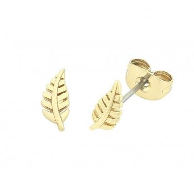 Liberte Design Petite flora gold earrings