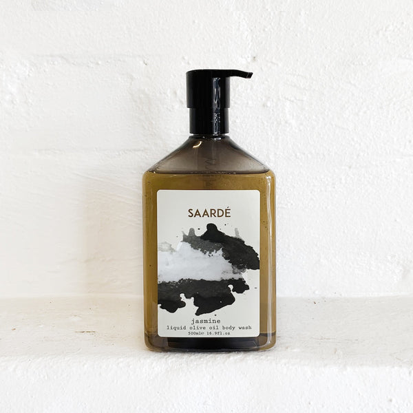 saarde liquid olive oil body wash - available at the white place, orange nsw.