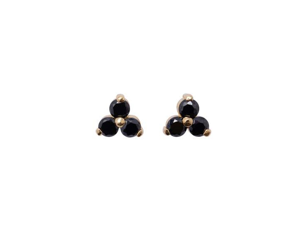 Deer Ruby dot stud earrings - at the white place, orange