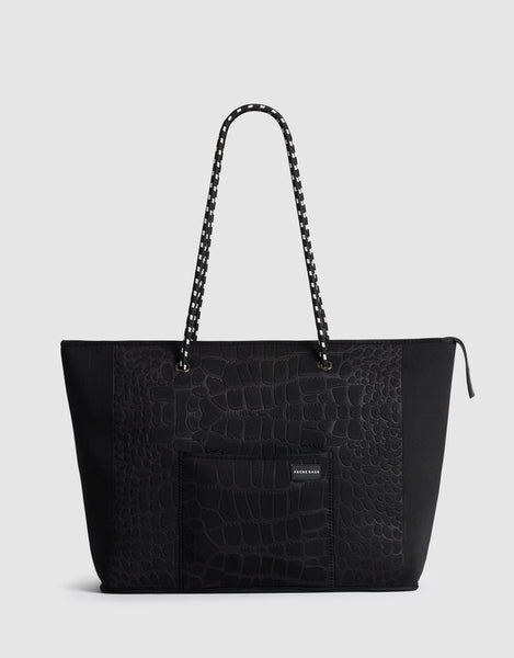 Prene croc Voyager bag available at the white place