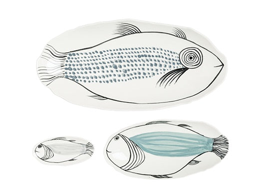 Papaya hand painted platters in set of three - available at the white place, orange nsw - free shipping in australia