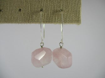 rose quartz  earring - available at the white place, orange
