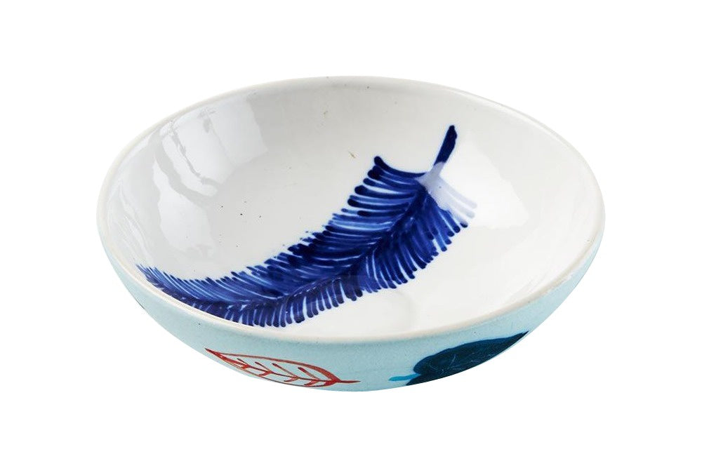 Blue Feather Bowl