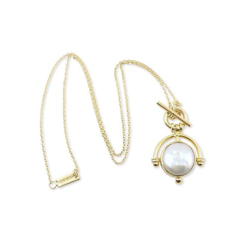 Toni May Pearl necklace - available at the white place, orange