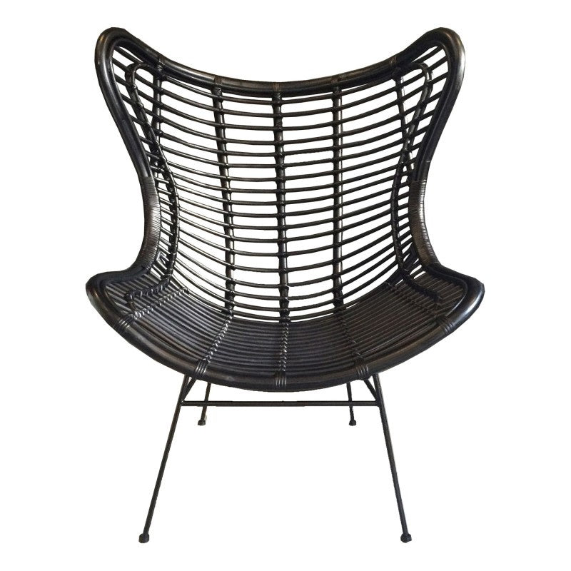 black wing back chair available at the white place, orange nsw
