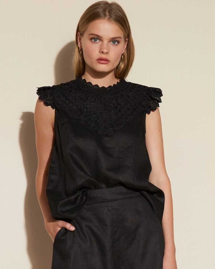 ZK Black Curfew top - free shipping