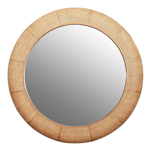 Dominica Round mirror by One World Collection available at The White Place, Orange