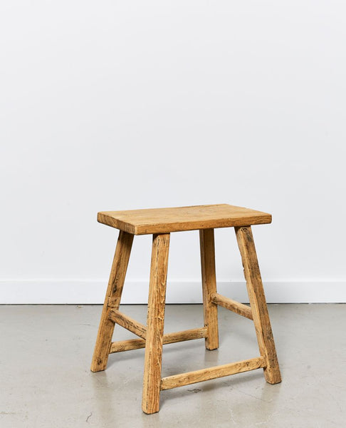 Papaya vecchio rectangular stool