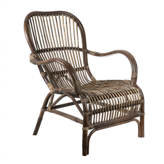 Outdoor rattan armchairs