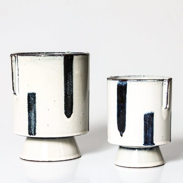 Shibui Pot by Indigo Love is available at the white place, orange