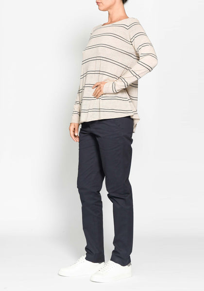 wool stripe scoop neck jumper - free shipping in australia