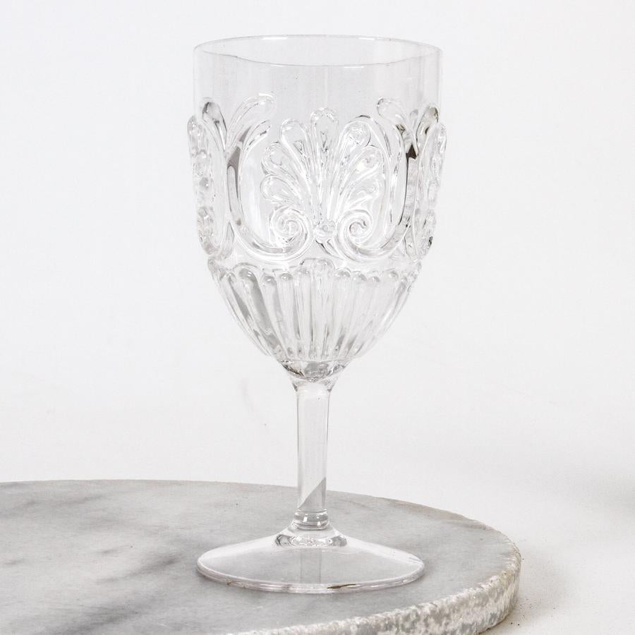 flemington acrylic wine glasses, clear - available at the white place, orange nsw