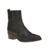 Black snake skin boot with small heel - free shipping in Australia