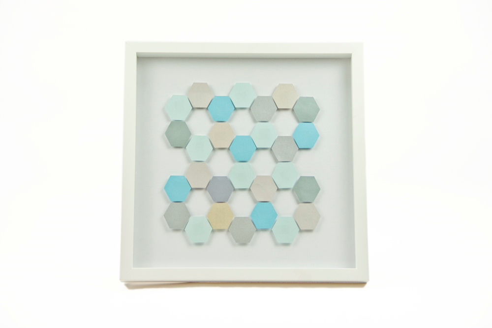 Blue Hexagon Paper Artwork