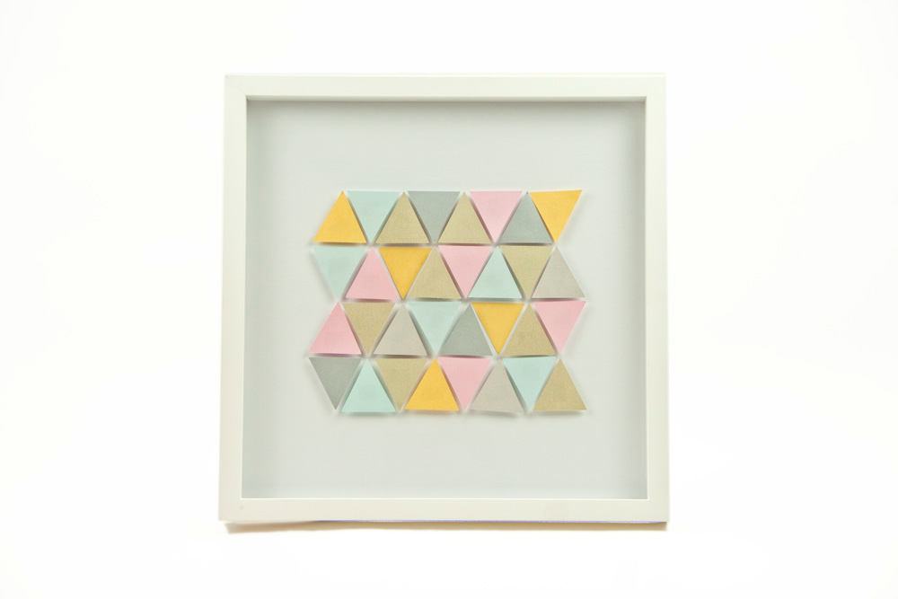Colourful triangle paper artwork