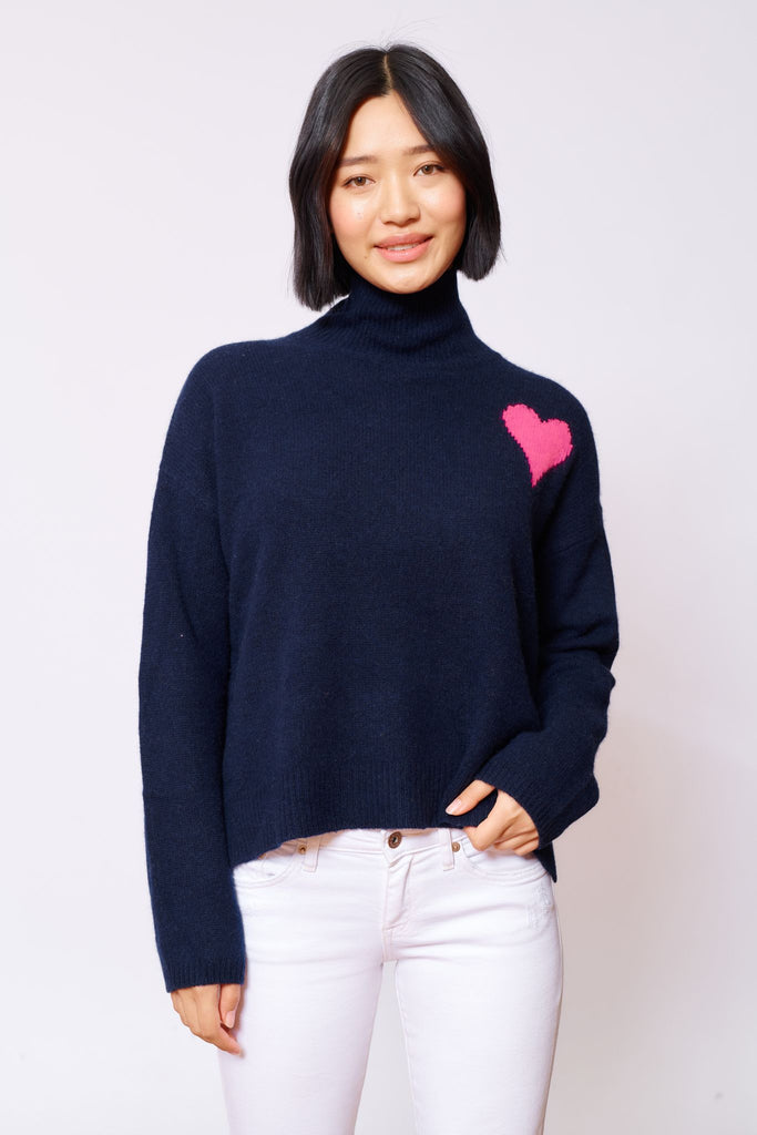 Alessandra cupid polo sweater in navy