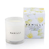 Pamilli freesia and pear soy candle - available at the white place, orange