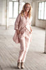 Linen pink pants by Eadie - at the white place, orange