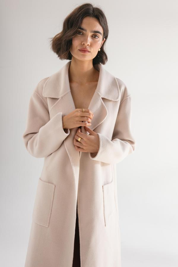 Pink wool coat - free shipping