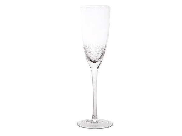 Crackle champagne glasses