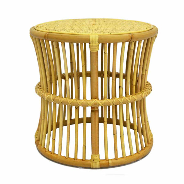natural rattan side table for hire through the white place, orange nsw