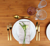 gold fork, knife and spoon for hire for events, weddings, in orange and central west nsw. gold cutlery for hire from the white place lifestyle and events