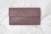 arlo wallet in mulberry - leather wallet available at the white place, free shipping in australia