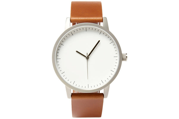 kent 42mm - tan / silver / white