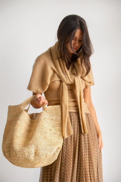 Natural raffia bag - Made in Mada