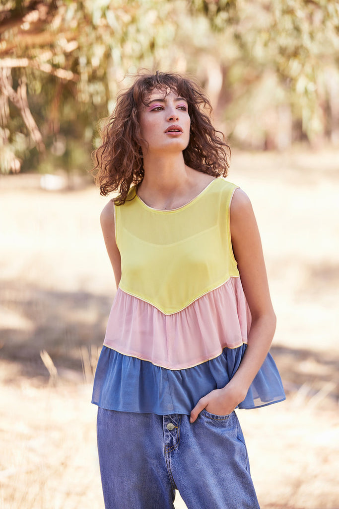 Lemon Marge baby doll top available at the white place, orange nsw.