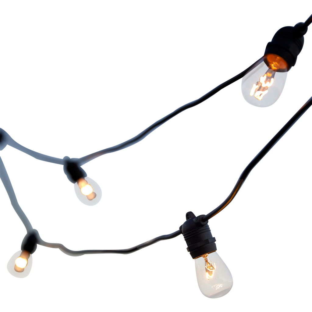 outdoor festoon lighting available for hire, perfect fo dance floors, bar areas for weddings, celebrations and events