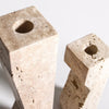 Pilos travertine candlestand