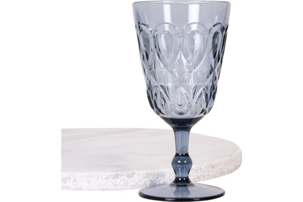 Blue acrylic wine glass