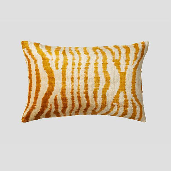 Cultiver silk velvet cushion, the white place, orange