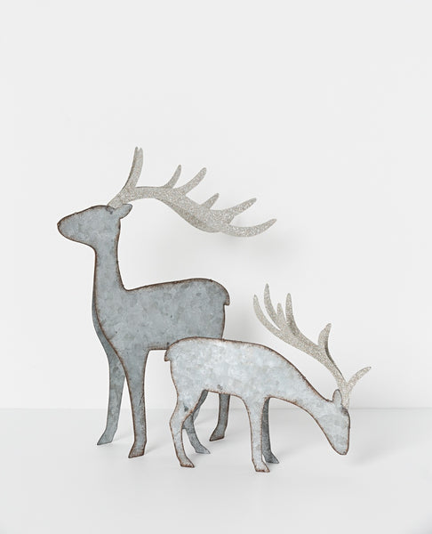 North Pole Standing reindeer silver