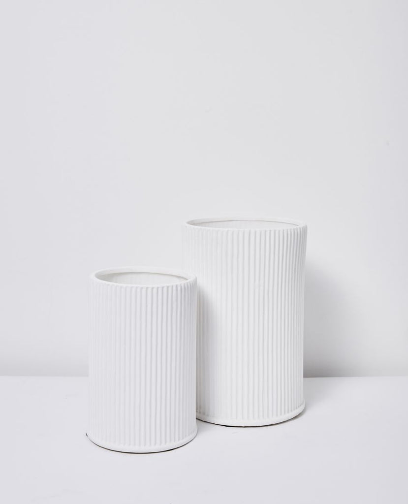 papaya white vases - available at the white place, orange