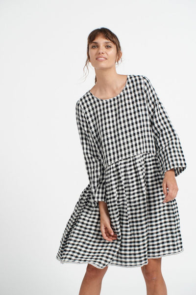 Check Babydoll Black/Ivory Gingham