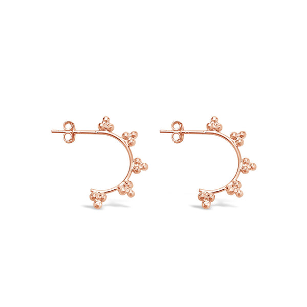 rose gold ichu earrings available at the white place, orange