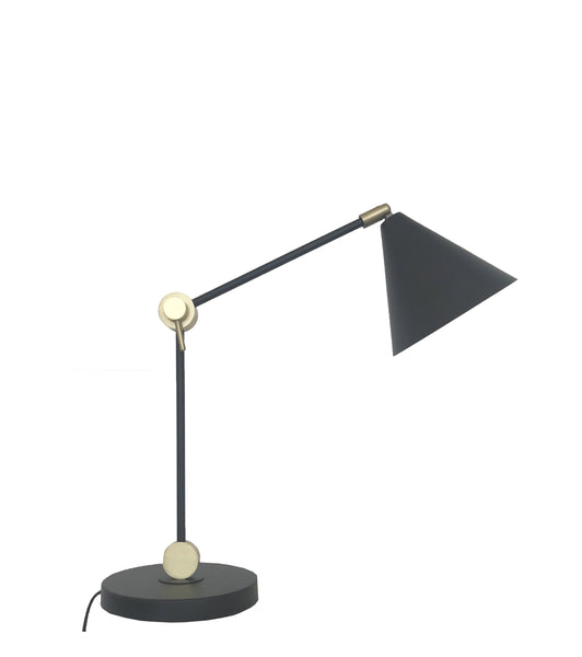 Augie black MRD table lamp - available at the white place, orange nsw