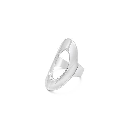 ichu sterling silver oval cut ring available at the white place, orange