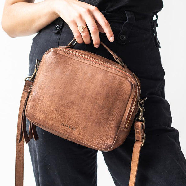 Juju and Co cognac berlin bag - free shipping