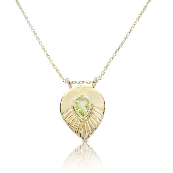Toni May Maple Peridot Gold Necklace