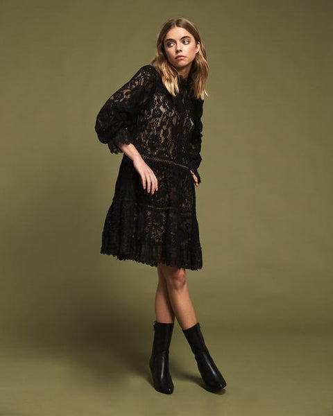 black lace dress - free shipping
