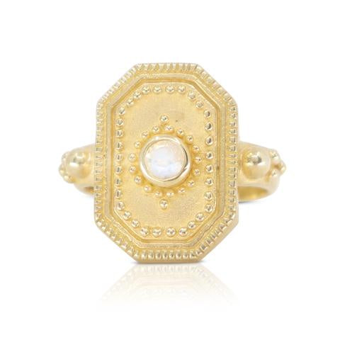 Toni May gold raya ring - available at the white place, orange