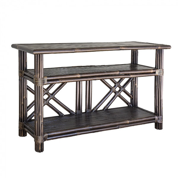 florabelle imports brown bamboo console - available to purchase at the white place, orange nsw